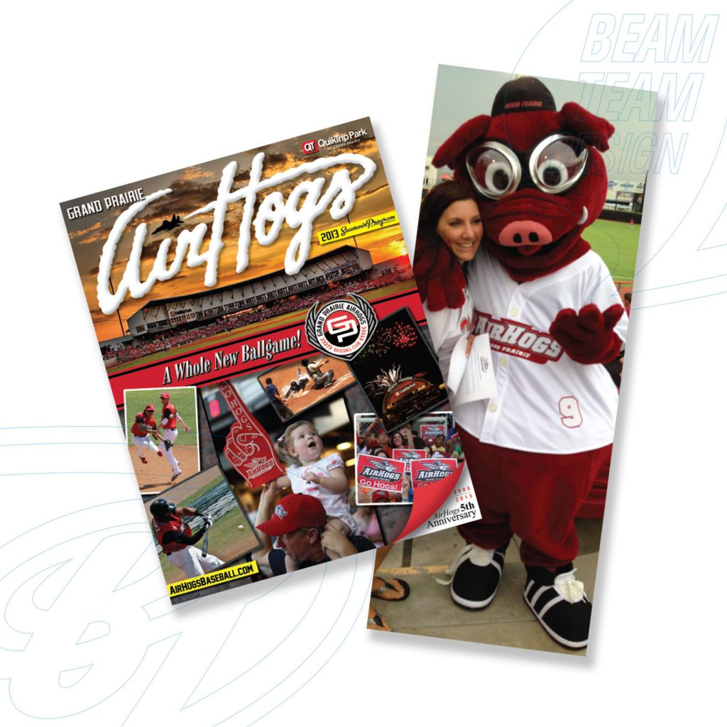 Grand Prairie AirHogs Program & Mascot Design