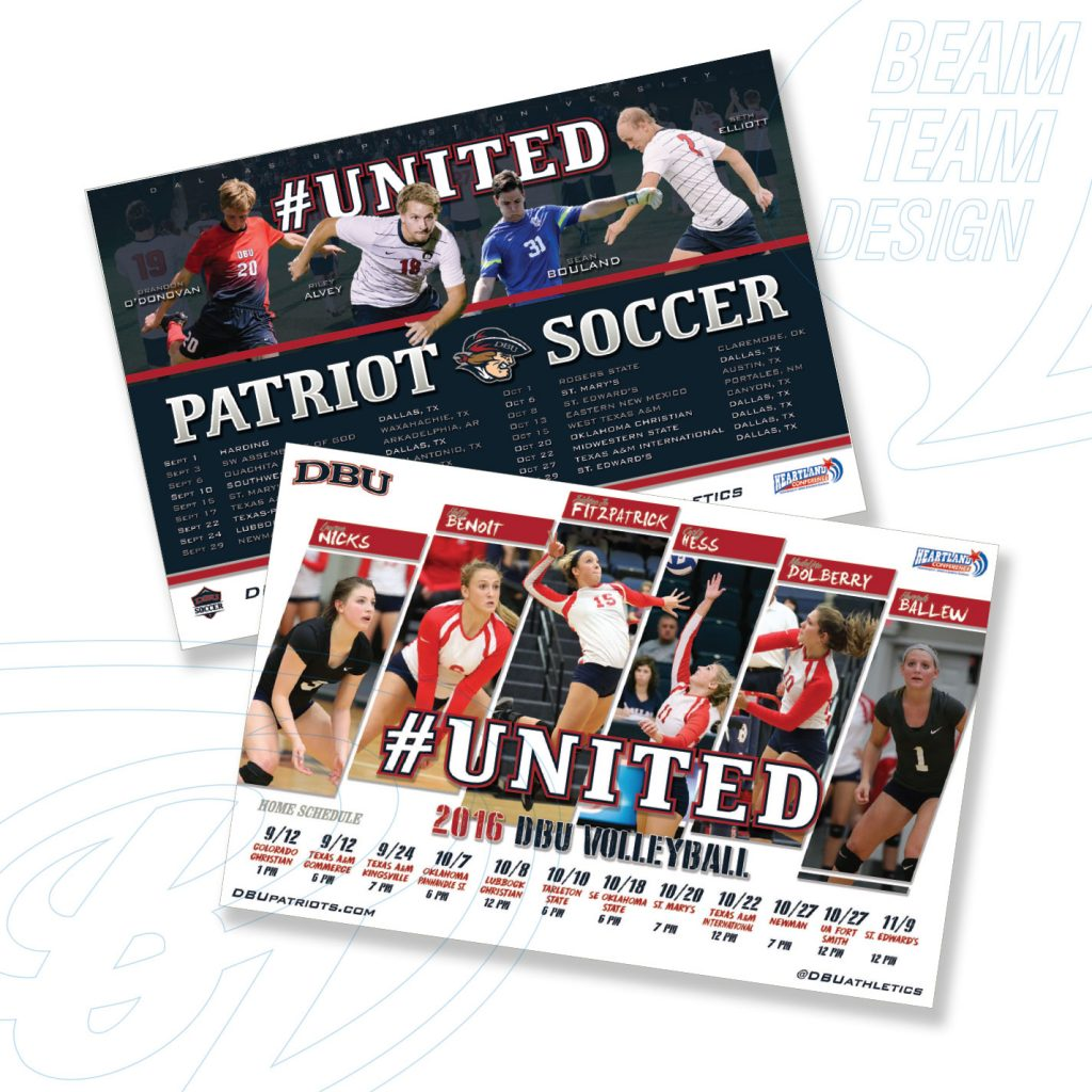 DBU Soccer & Volleyball Posters