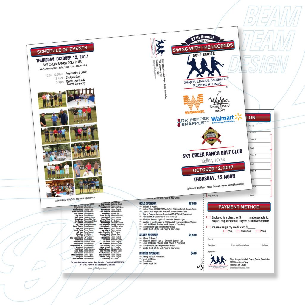 MLB Players Alumni Assoc. Golf Tournament Brochure