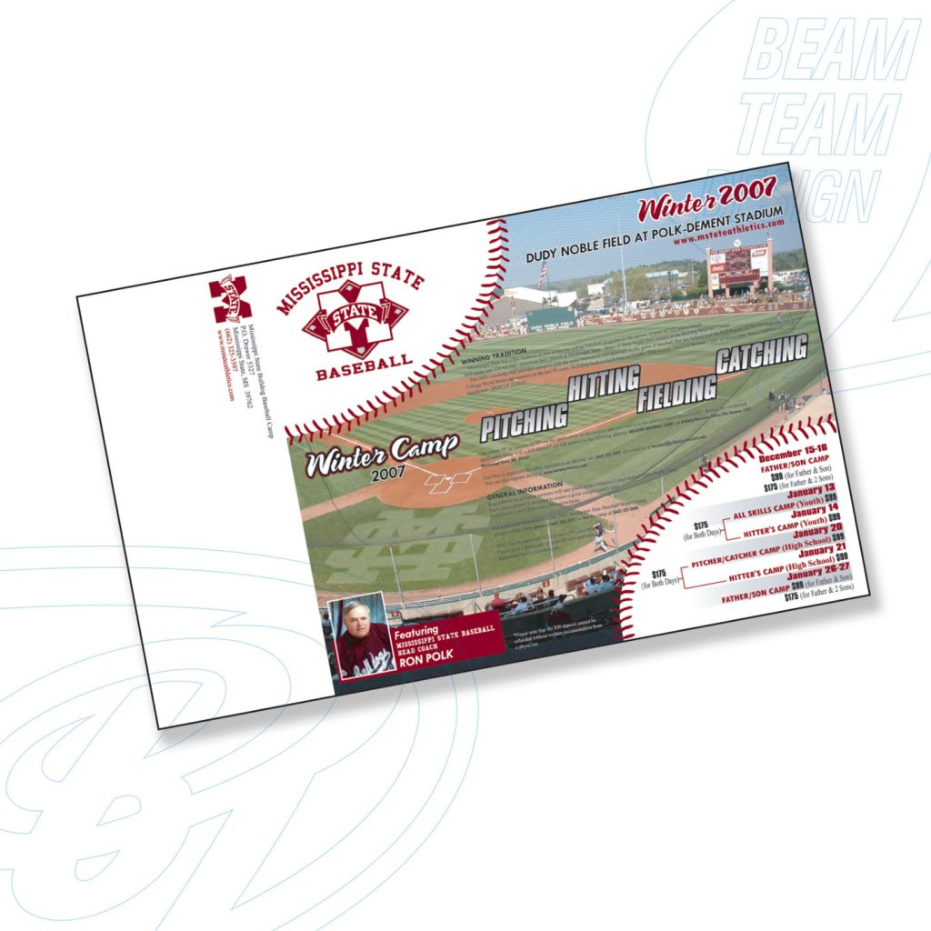 Mississippi State Univ. Baseball Summer Camp Brochure