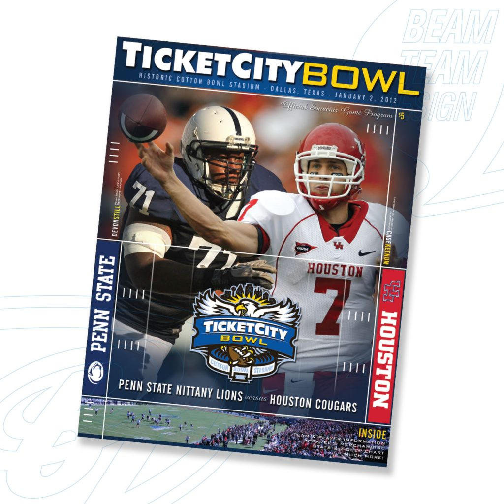 Ticket City Bowl Souvenir Game Program (and Logo)