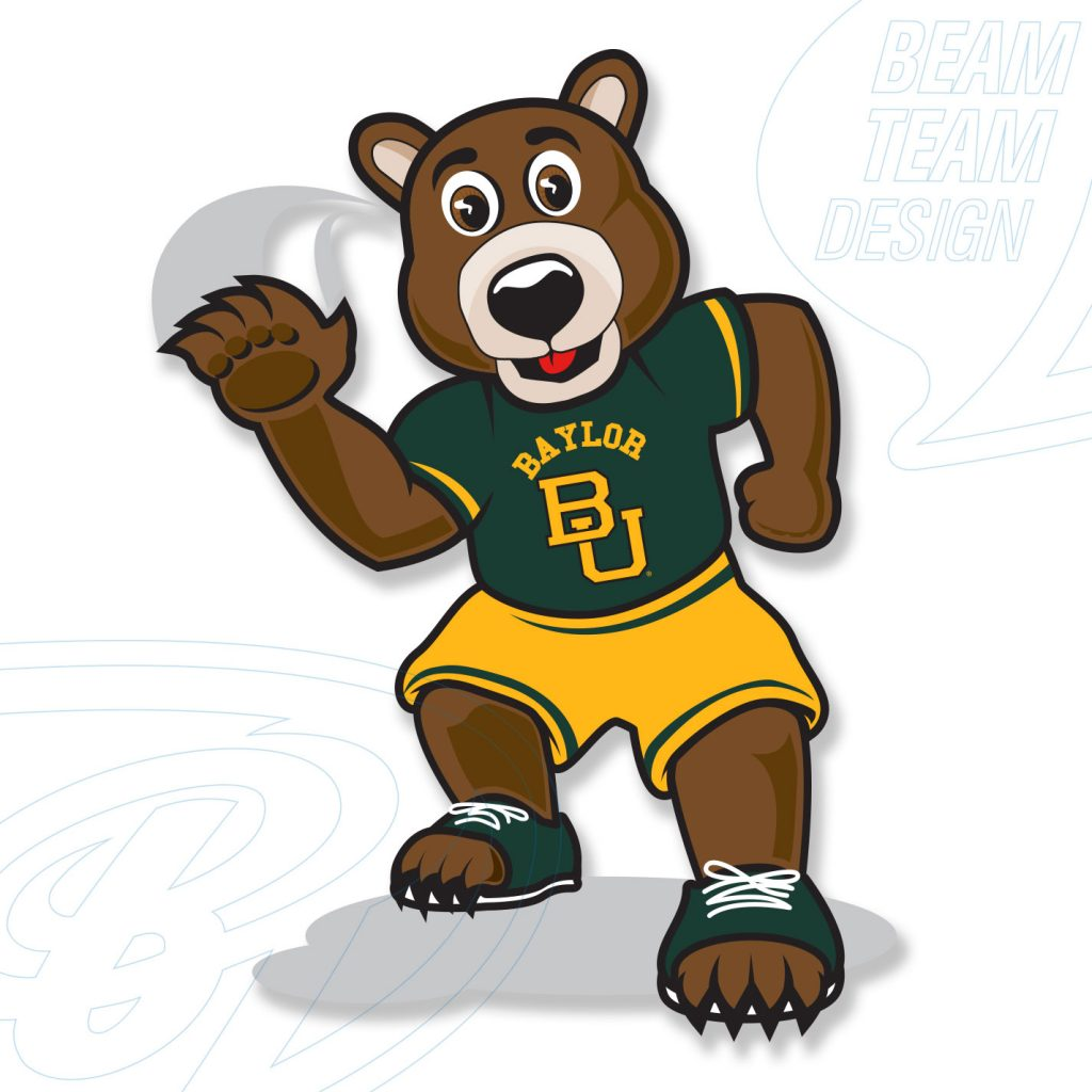 Baylor University Mascot Graphic