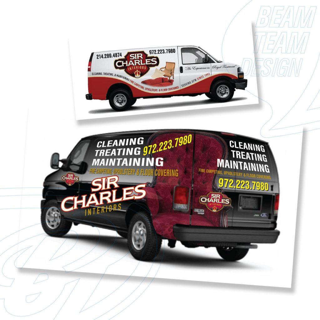 Sir Charles Interiors Van Wrap Designs